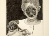 thumbs 169 atkin woman and her dog 1978 11x13 pencil drawing Liz Atkin