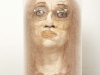 thumbs 185 howarth untitled woman 1992 25x52x25 stocking mixed media glass case Michele Howarth