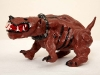thumbs 108 webster painted dog 1991 9x10x19 ceramic paint Tim Noble and Sue Webster