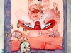 O`Connor, A Little Pink Thought, 1985_50x75_watercolour 1