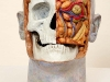 thumbs 40a poynter head study skull 2001 lifesize fibreglass oil paint Malcolm Poynter